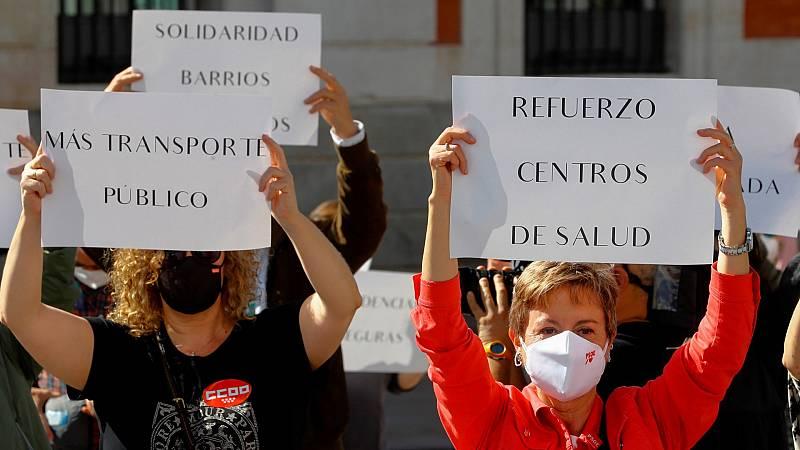 Manifestaciones en Madrid contra la gestión de la pandemia