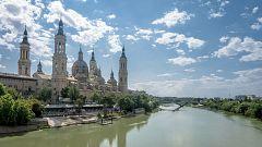 España Directo - Los balcones de Zaragoza se engalanan de flores por El Pilar