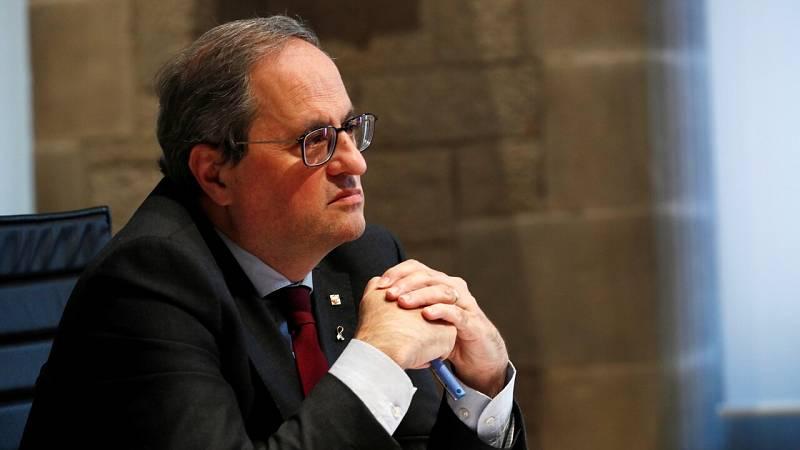 """Quim Torra llama a la """"ruptura democrática"""" y plantea los próximos comicios como un plebiscito"""