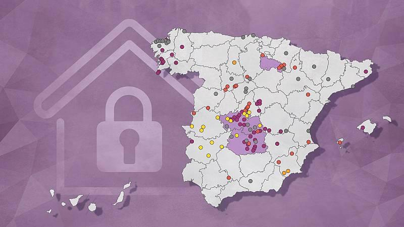 Aumentan las restricciones frente al coronavirus en municipios de cinco comunidades autónomas