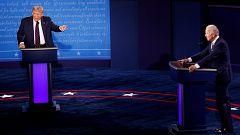 Los ataques personales y las interrupciones eclipsan el primer debate electoral entre Trump y Biden