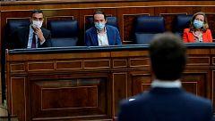 """Bronca en el Congreso por el rey: la oposición acusa al Gobierno de desleal y Sánchez habla de """"amenazas ficticias"""""""