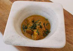 Pez espada al curry
