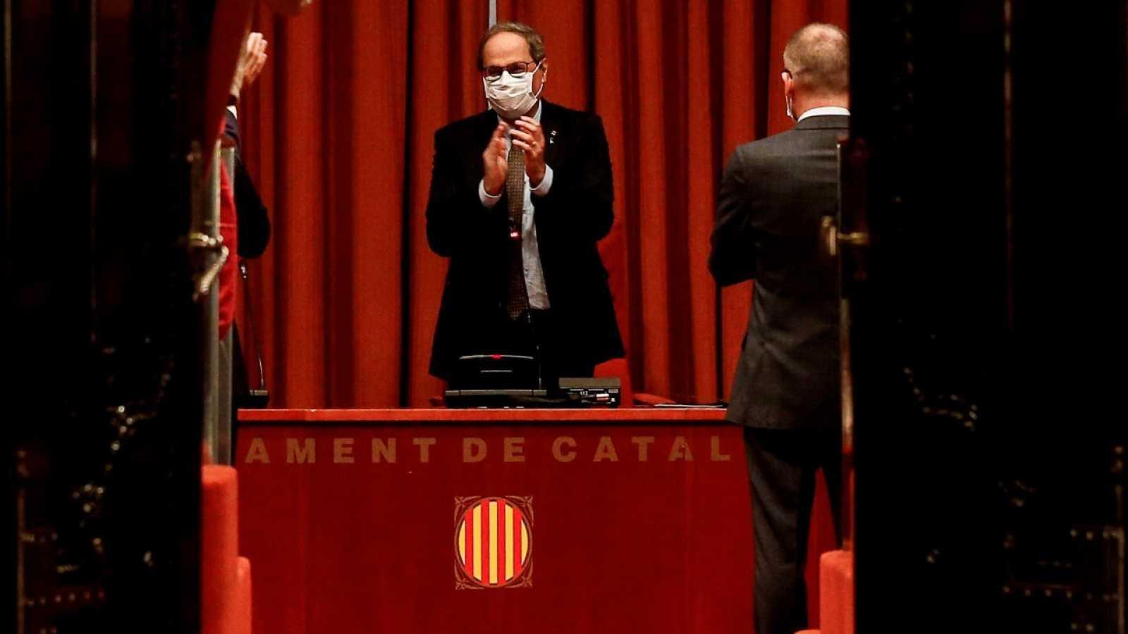 """Torra vuelve al Parlament y dice que no acepta su destitución: """"Será Europa quien juzgue al Estado español"""""""
