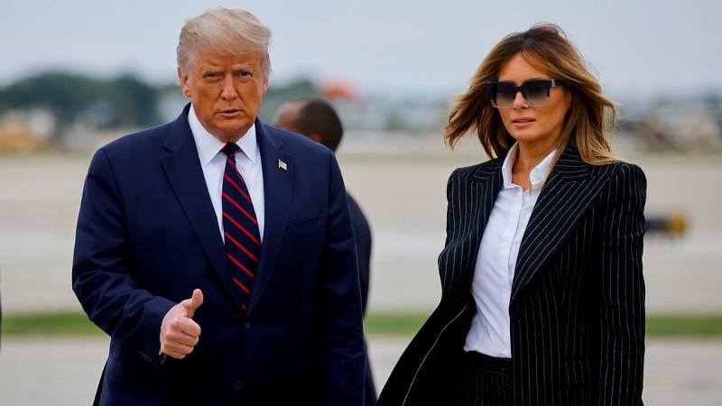 El presidente Donald Trump y su esposa Melania dan positivo por coronavirus y se ponen en cuarentena