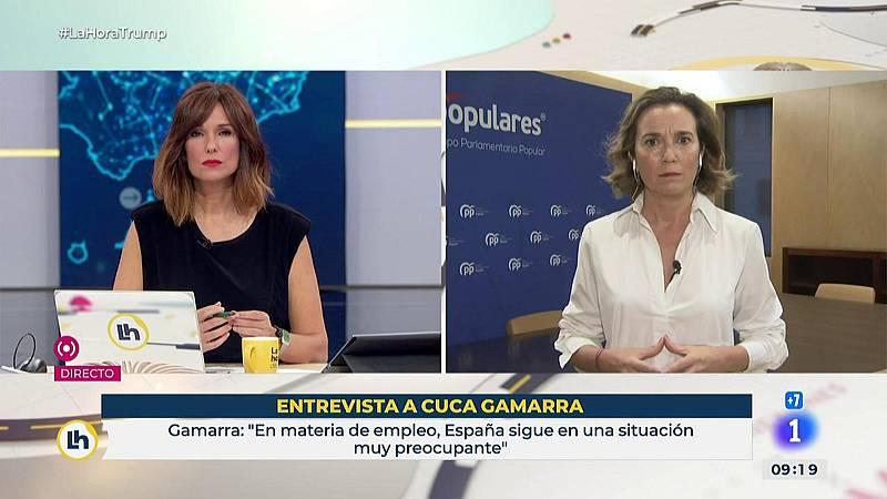 """Cuca Gamarra: """"La orden ministerial viene a paralizar la actividad económica en Madrid y que afecta a toda España"""""""