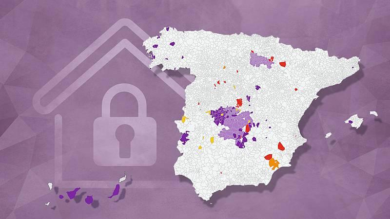 Confinamientos y restricciones en más de 570 municipios de España para frenar al coronavirus