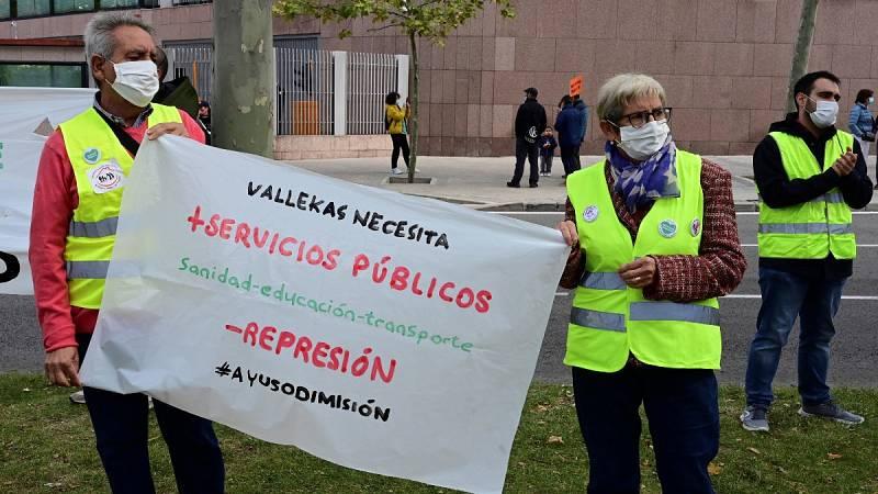Nuevas protestas en defensa de la Sanidad Pública en el barrio madrileño de Vallecas