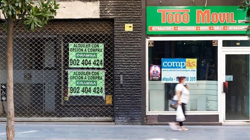 El cierre de negocios llena las calles de locales en alquiler