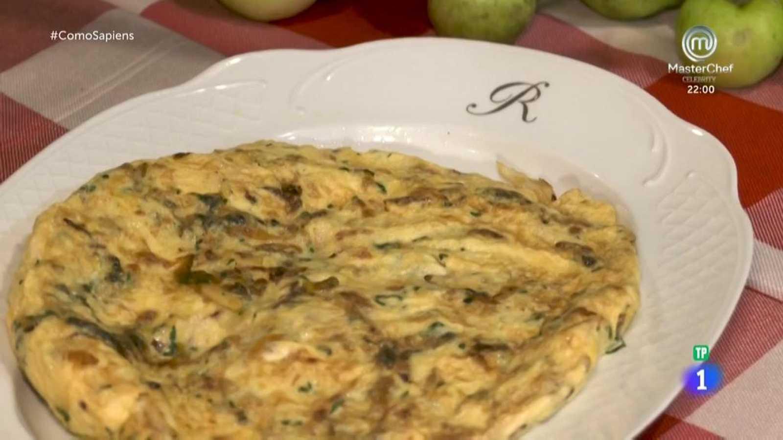 Receta de tortilla de bacalao con guindillas