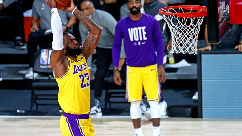NBA | El tercer triunfo de Los Angeles Lakers ante Miami Heat en 5 jugadas