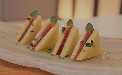 Sandwich de queso y membrillo