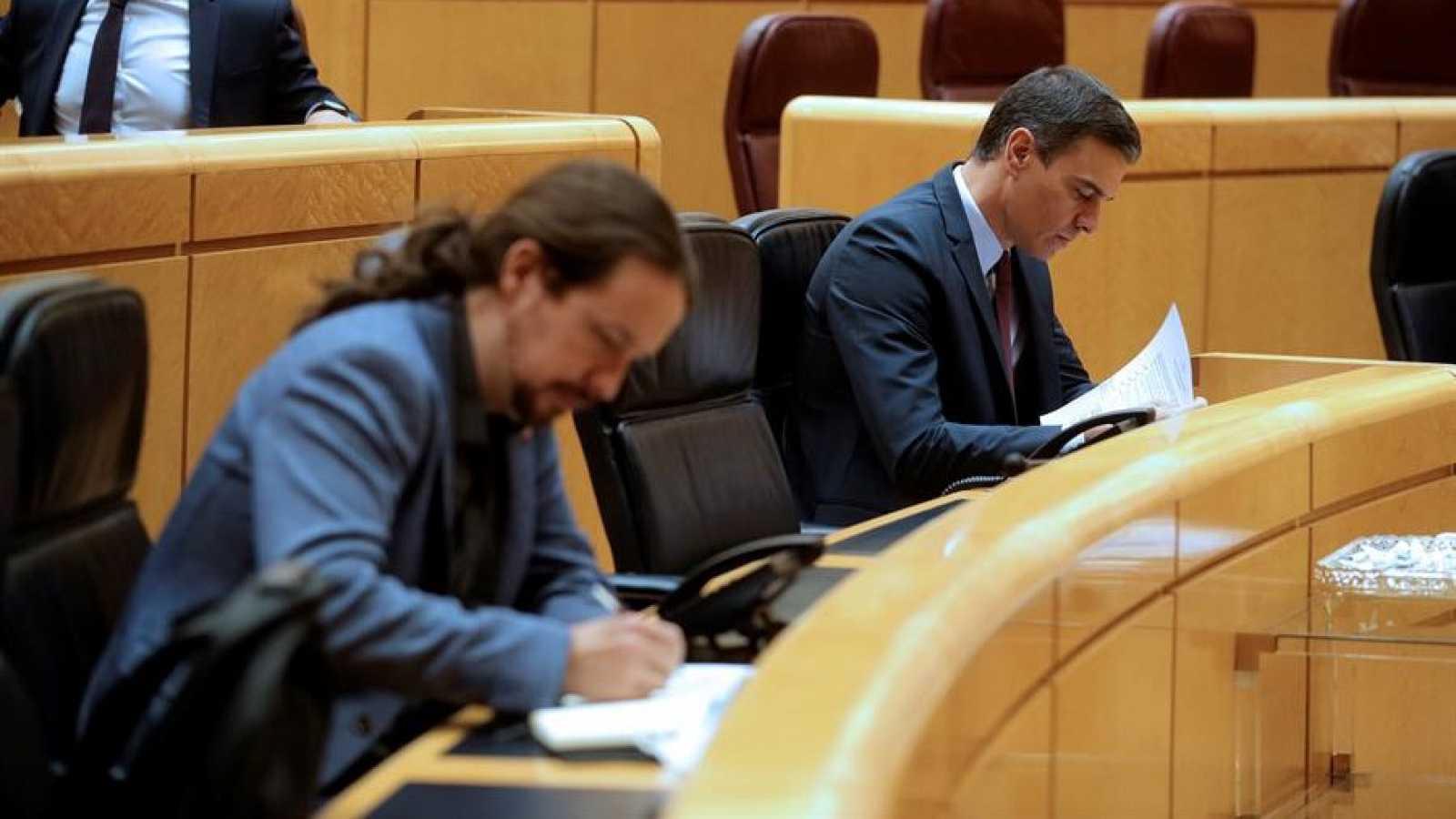 Sánchez traslada el apoyo del Gobierno a Iglesias tras la petición del juez del caso Dina para que sea investigado