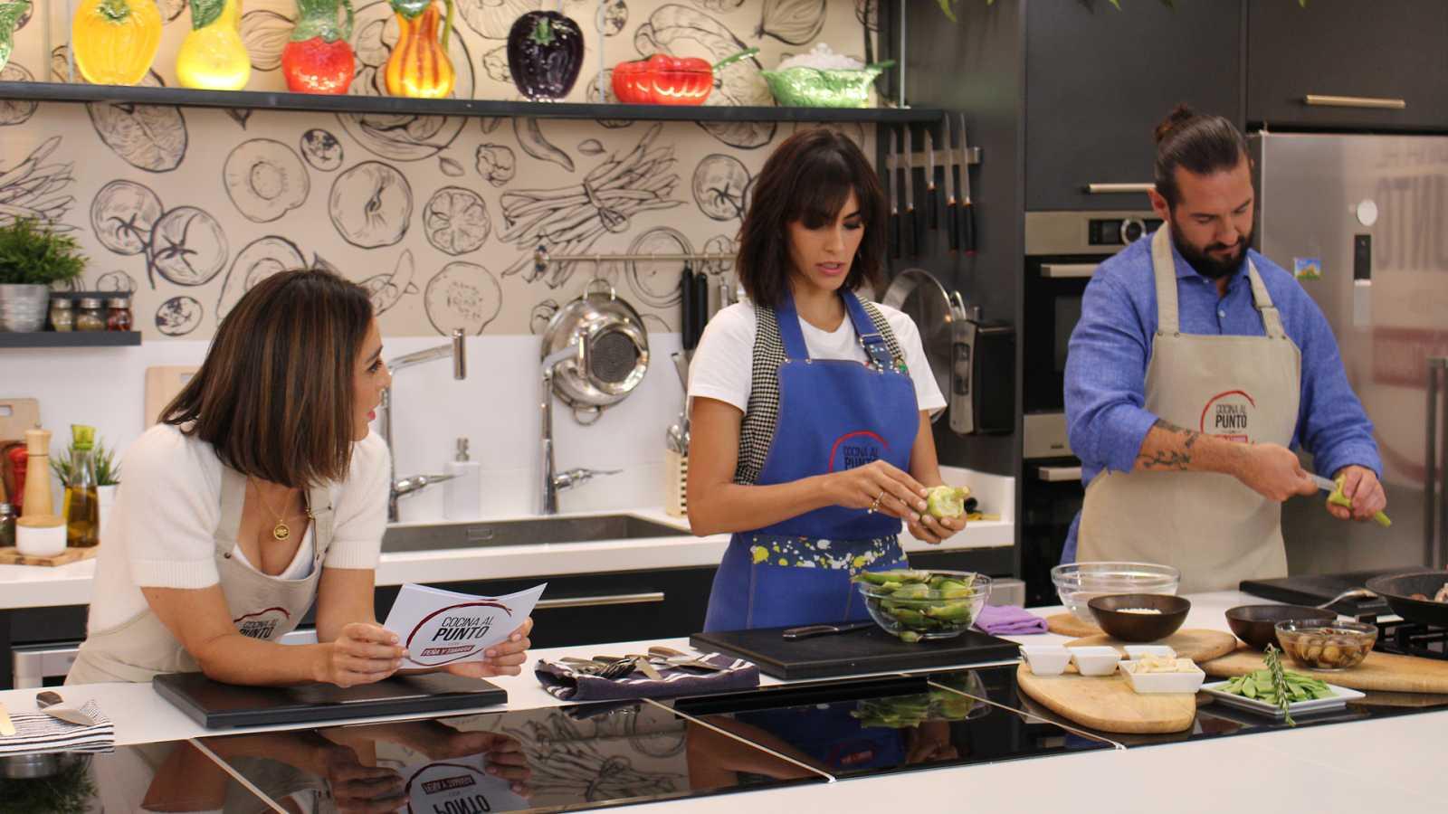 Cocina al punto con Peña y Tamara - Vieiras con lombarda y manzana - ver ahora