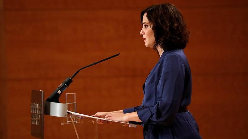 """Ayuso pide a los madrileños """"no salir de Madrid"""" durante el puente"""