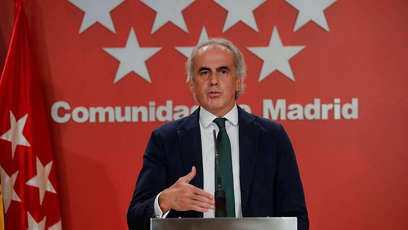 """El consejero de Sanidad de Madrid: """"Con los datos avalándonos, vamos a pedir que se levante el estado de alarma"""""""