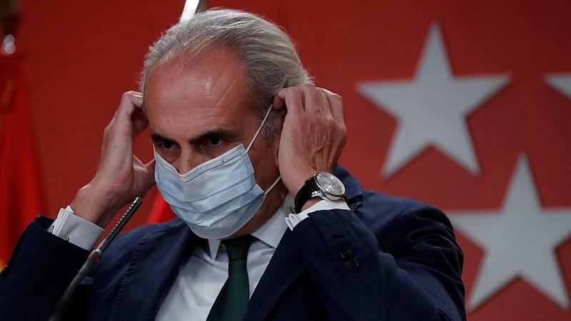"""El consejero de Sanidad de Madrid afirma que el Gobierno ha hecho un """"chantaje"""" con el estado de alarma"""