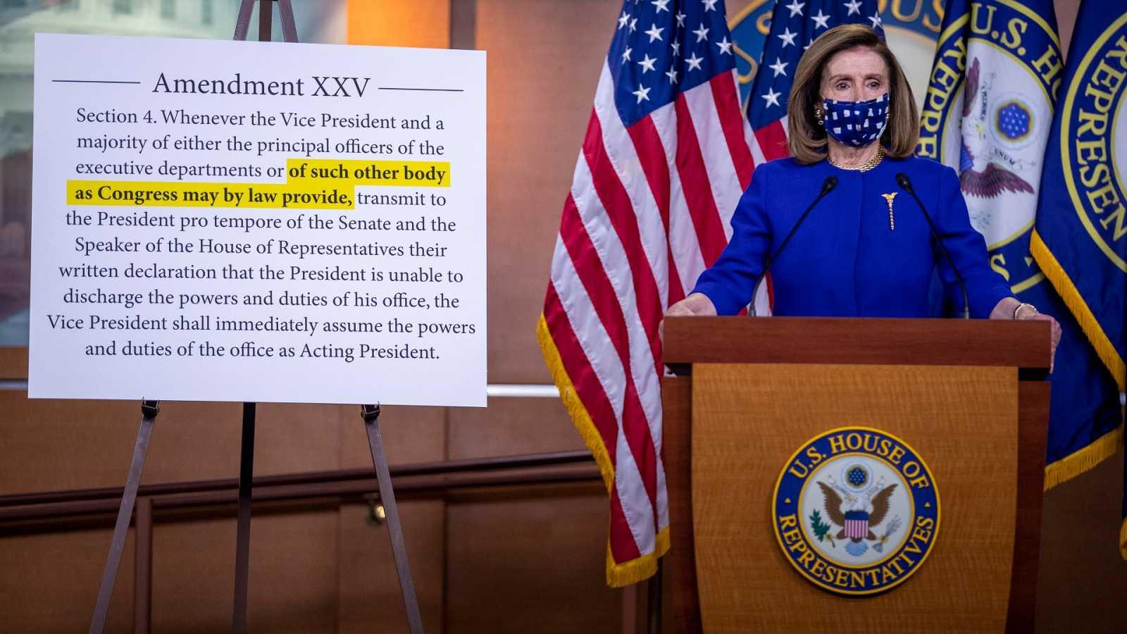Los demócratas impulsan una comisión para inhabilitar a un presidente