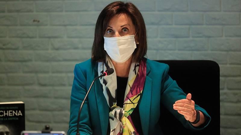 """Robles felicita a las tropas en exterior por """"estar siempre a la altura"""", incluso en medio de la pandemia"""