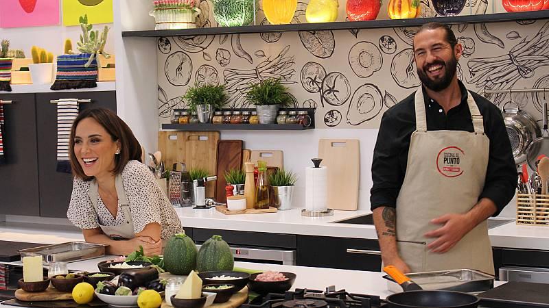 Cocina al punto con Peña y Tamara - Calabacín relleno de pollo y gratinado - ver ahora