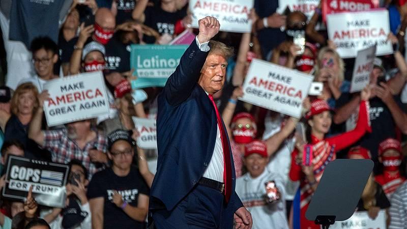 Trump retoma la campaña en Florida y asegura ser inmune a la COVID-19