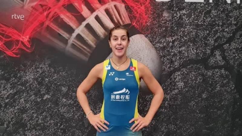 """Carolina Marín: """"Tras siete meses de parón, primera victoria y con ganas de seguir en la pista"""""""