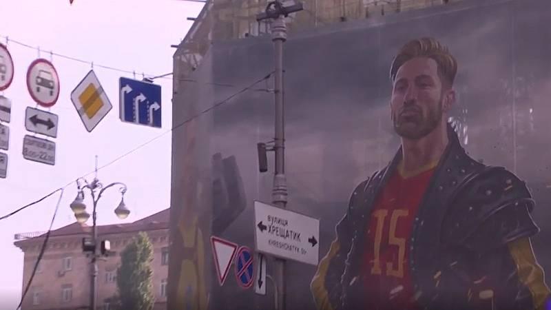 Sergio Ramos, icono en la selección española y en Kiev