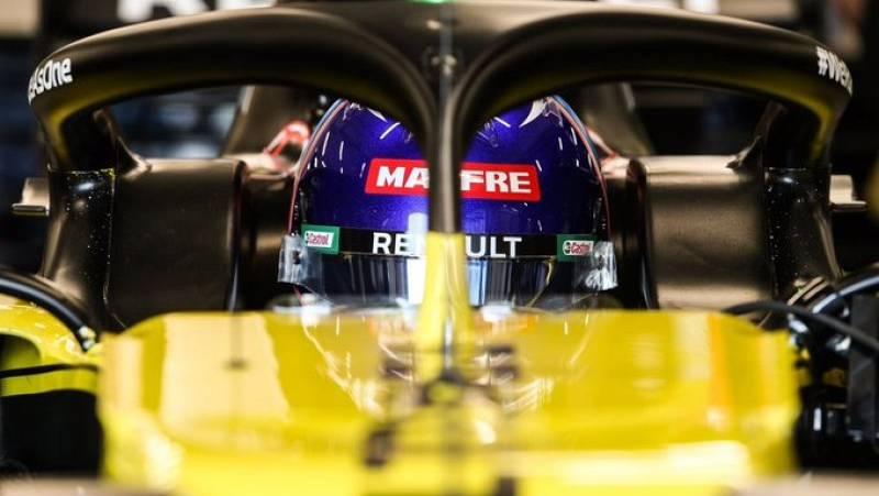 Fernando Alonso ya rueda con su nuevo Renault