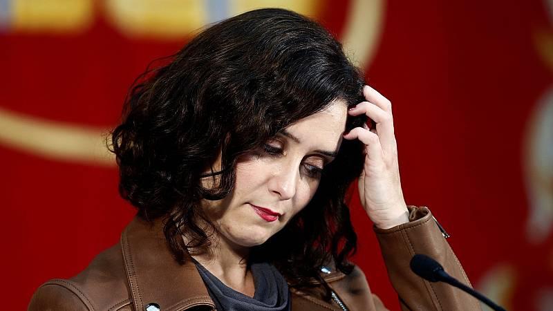 Isabel Díaz ayuso en la rueda de prensa en la que no descarta recurrir el estado de alarma