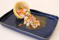 Ceviche de calamar con maracuyá