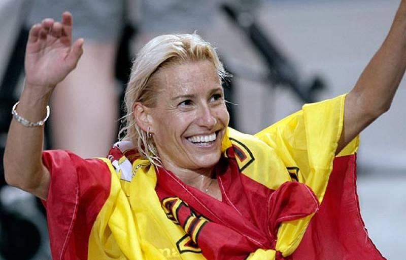 """Marta Domínguez, campeona del mundo en los 3.000 obstáculos, cumple su """"sueño desde niña"""". La palentina asegura que entrenaba para ser la mejor y que sólo le """"valía el oro""""."""