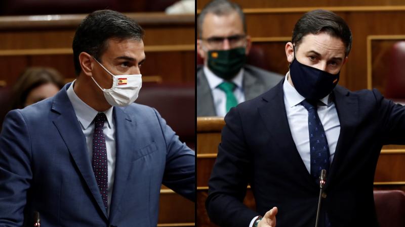 """Abascal pide a Sánchez que """"se marche"""", pero este le recuerda que su Gobierno es """"legítimo"""""""