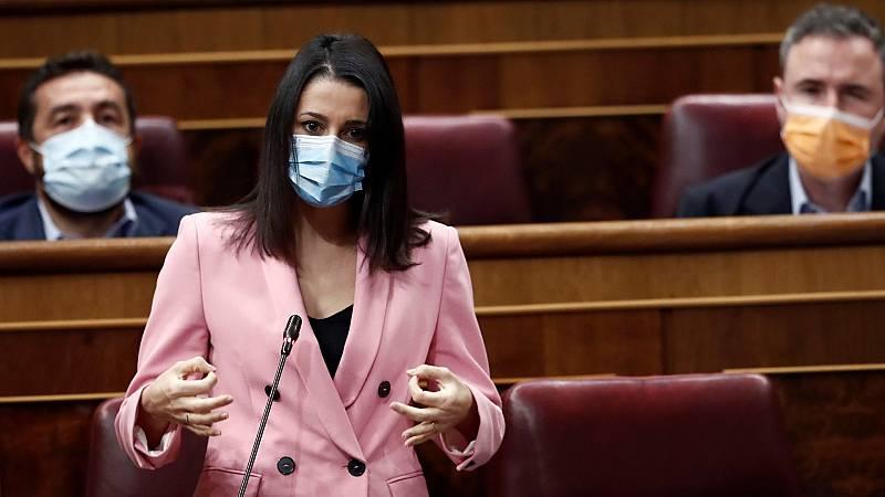 """Arrimadas pide al Gobierno """"rectificar"""" la reforma judicial: """"Si no lo hacen ustedes, lo hará Europa"""""""