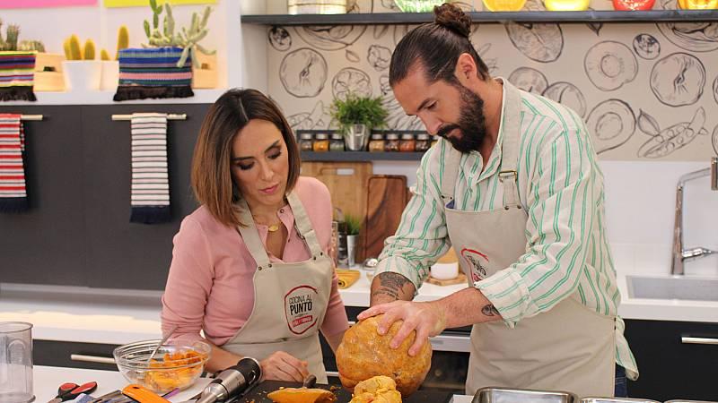 Cocina al punto con Peña y Tamara - Pollo asado en calabaza - ver ahora
