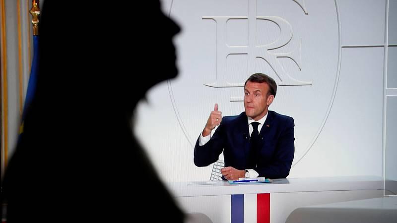 Macron anuncia el toque de queda en París y otras ocho ciudades