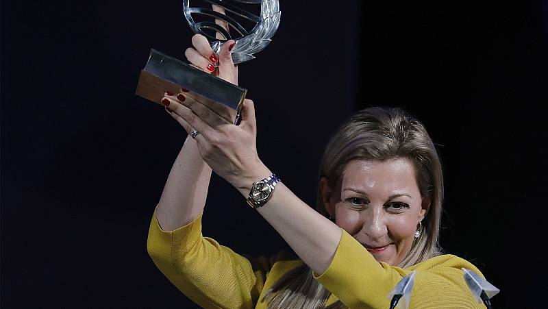 Eva García Sáenz de Urturi, ganadora del Premio Planeta 2020 por su novela 'Aquitania'