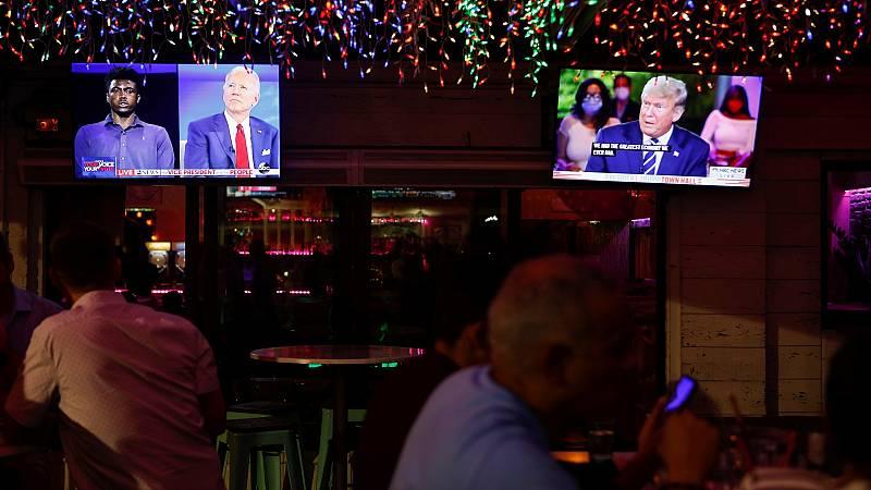 Trump y Biden compiten en dos entrevistas tras la cancelación del debate