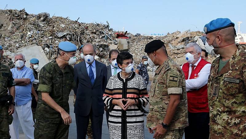 España colabora en la reconstrucción del puerto de Beirut, dos meses después de la explosión