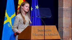 """La princesa Leonor apela al """"sentido de la responsabilidad"""" de los jóvenes en la lucha contra la COVID-19"""