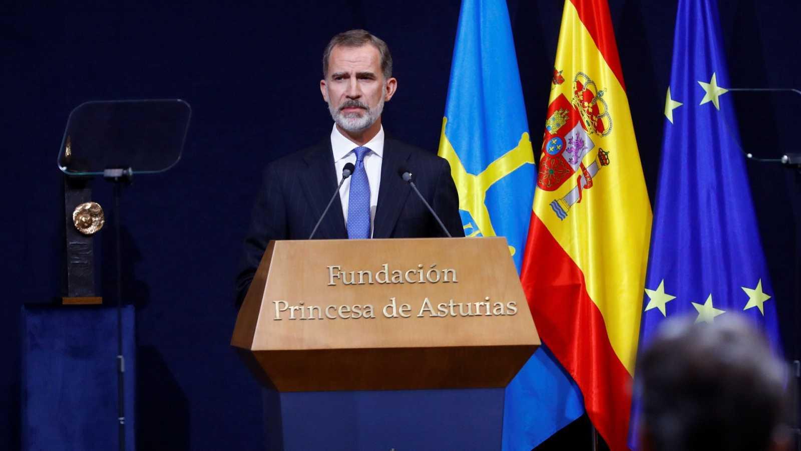"""El rey pide un """"gran esfuerzo nacional de entendimiento y concordia"""""""