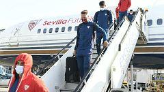 El Sevilla llega a Londres para iniciar su sexta participación en la Champions
