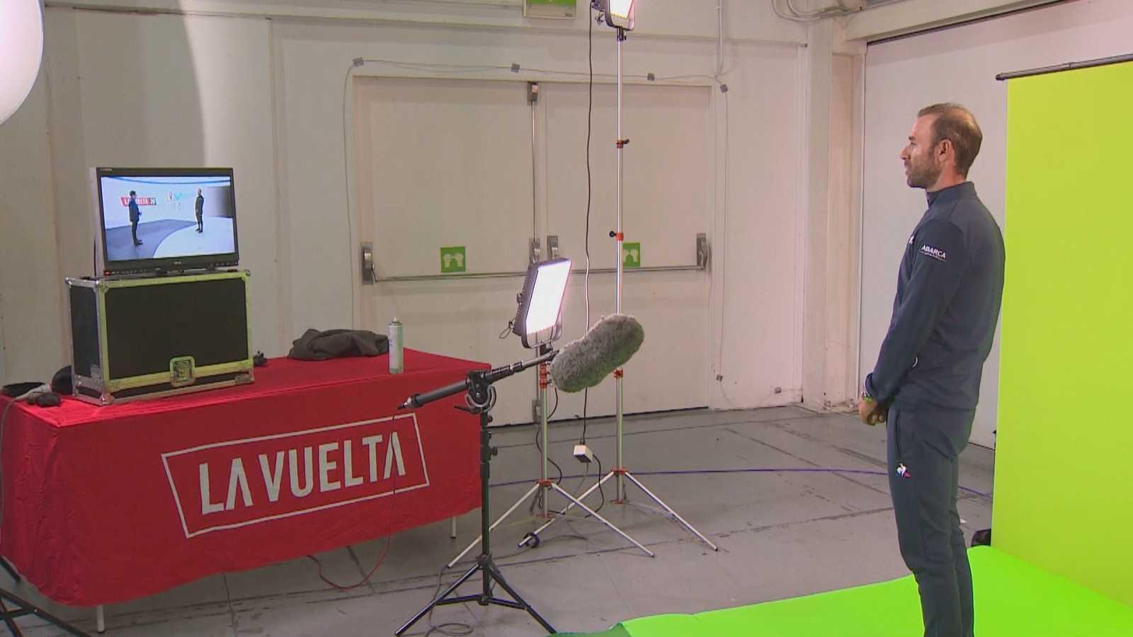 Así fue el 'making of' de la entrevista a Alejandro Valverde en el Telediario