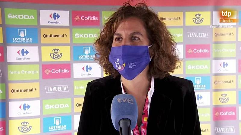 """Irene Lozano: """"Es un orgullo que las bicicletas vuelvan a rodar en esta Vuelta"""""""