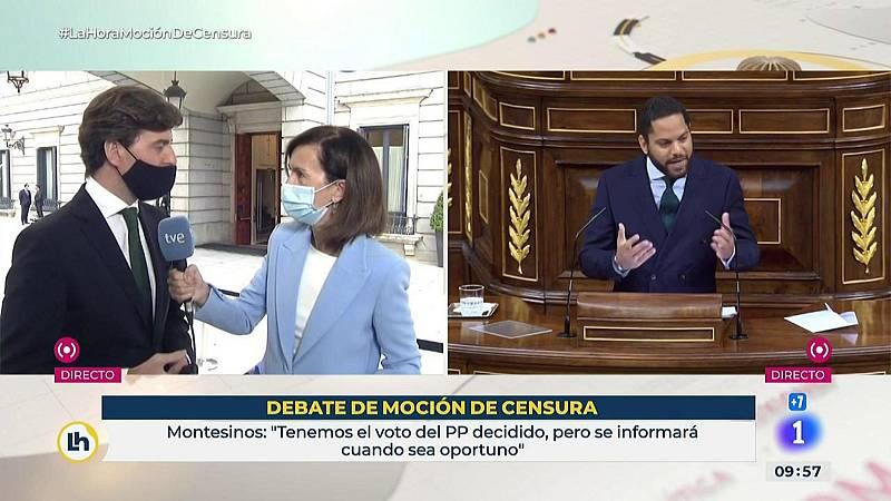 """Montesinos dice que el PP ya """"tiene decidido"""" su voto pero no lo desvelarán hasta mañana"""
