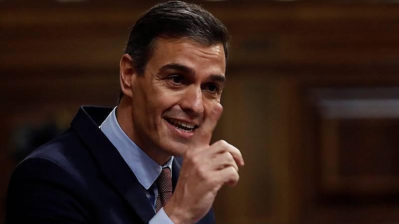 Sánchez reprocha a Abascal que no acudiera al homenaje por los muertos por coronavirus