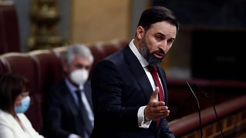 """Abascal acusa a Sánchez de """"gestión negligente y criminal"""" y se compromete a convocar elecciones este año"""