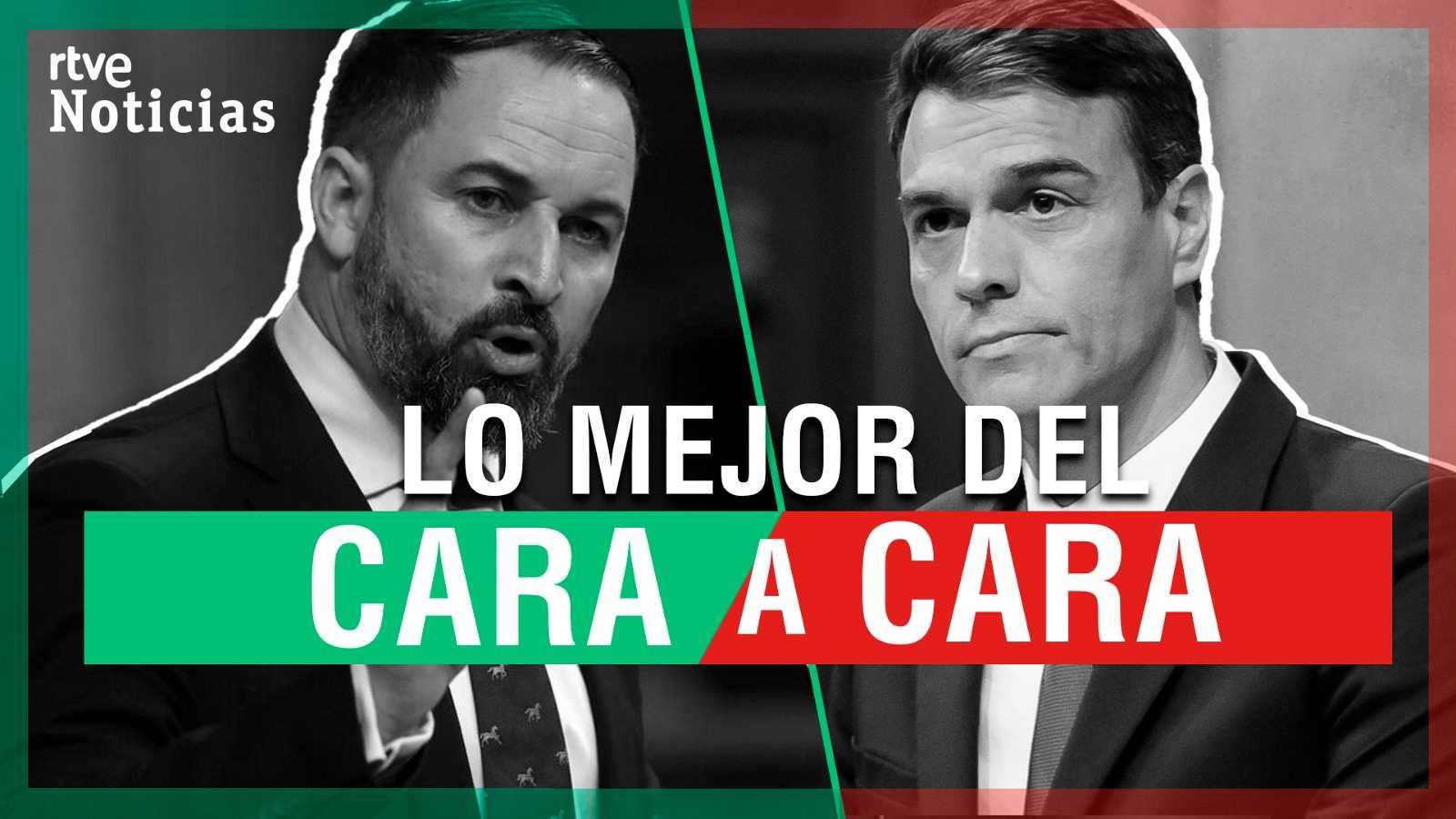 Los mejores momentos del cara a cara entre Sánchez y Abascal en el debate de la moción de censura