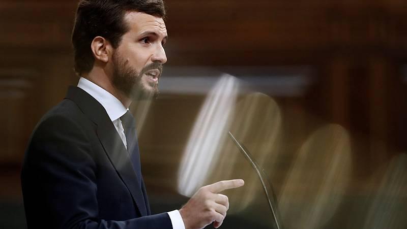 """Casado anuncia que votará """"no"""" a la moción de Vox"""