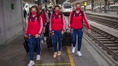 La selección ya está en Sevilla para su partido ante República Checa
