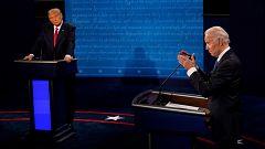 Trump y Biden exhíben sus diferencias en un tono moderado en el último debate antes de las elecciones